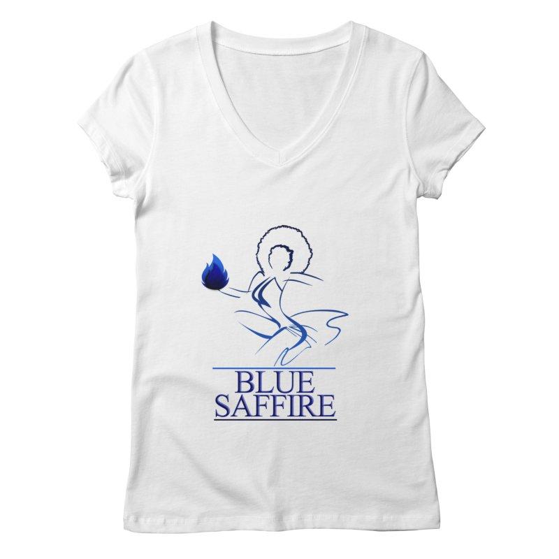 Blue Saffire Lady Tee Women's Regular V-Neck by Blue Saffire's Artist Shop