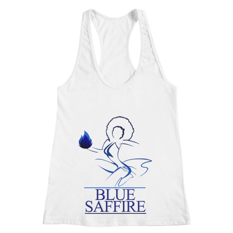 Blue Saffire Lady Tee Women's Racerback Tank by Blue Saffire's Artist Shop