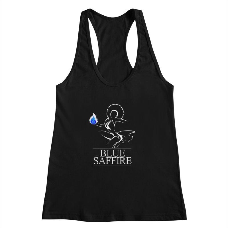 Blue Tees Lady Color Women's Racerback Tank by Blue Saffire's Artist Shop