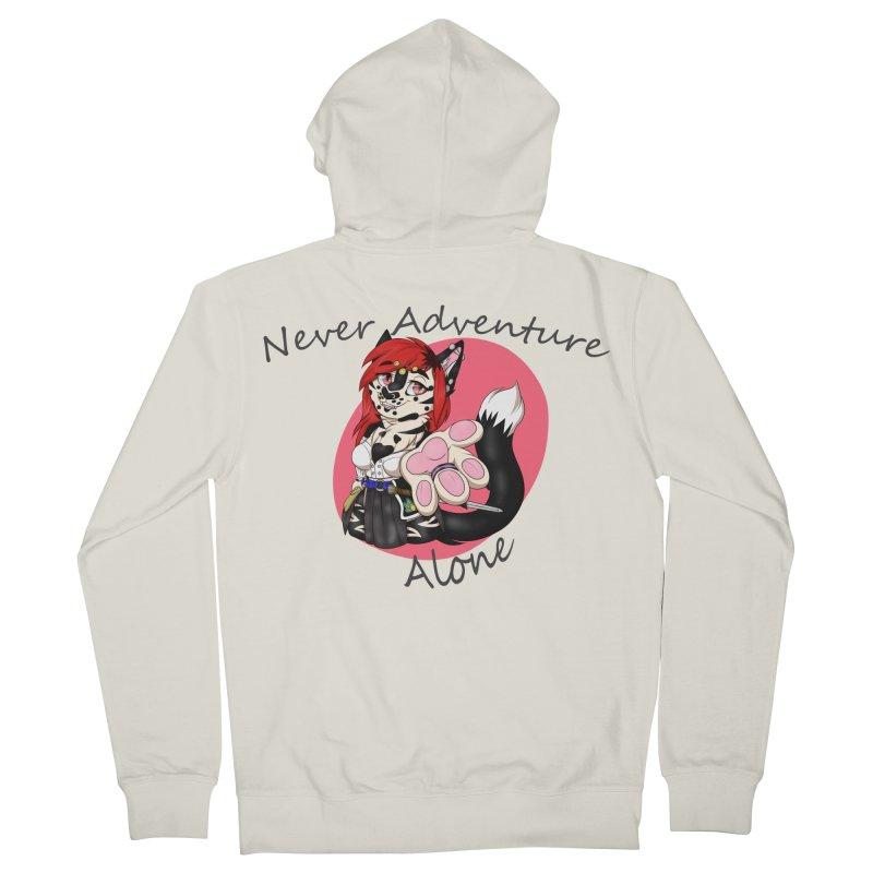 Never Adventure Alone Men's Zip-Up Hoody by Bluefeatherkitten's Artist Shop