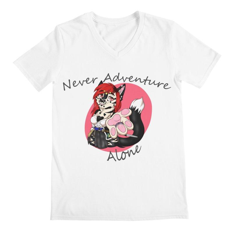 Never Adventure Alone Men's V-Neck by Bluefeatherkitten's Artist Shop