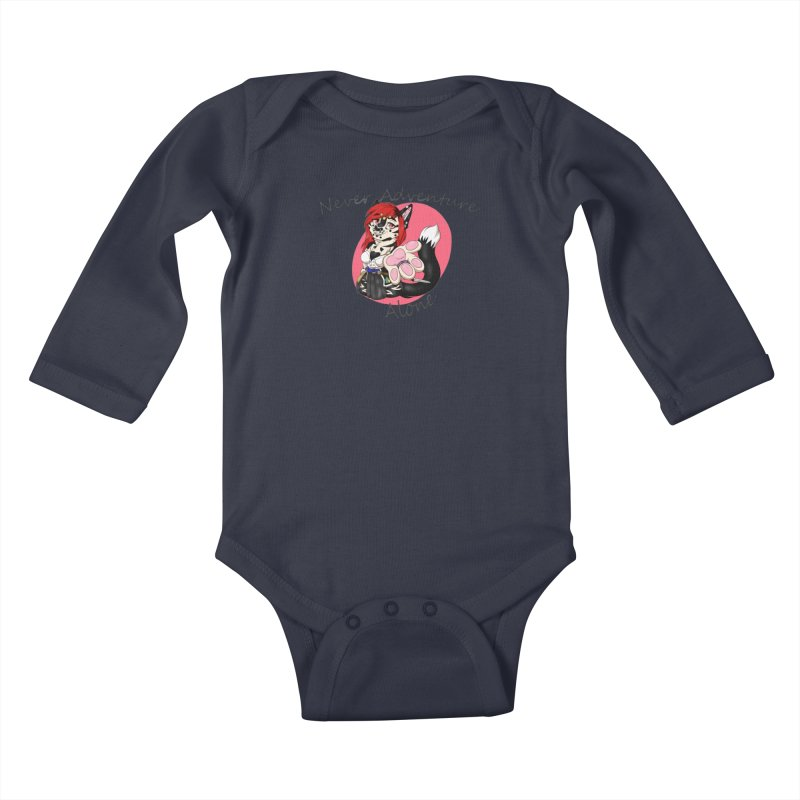 Never Adventure Alone Kids Baby Longsleeve Bodysuit by Bluefeatherkitten's Artist Shop