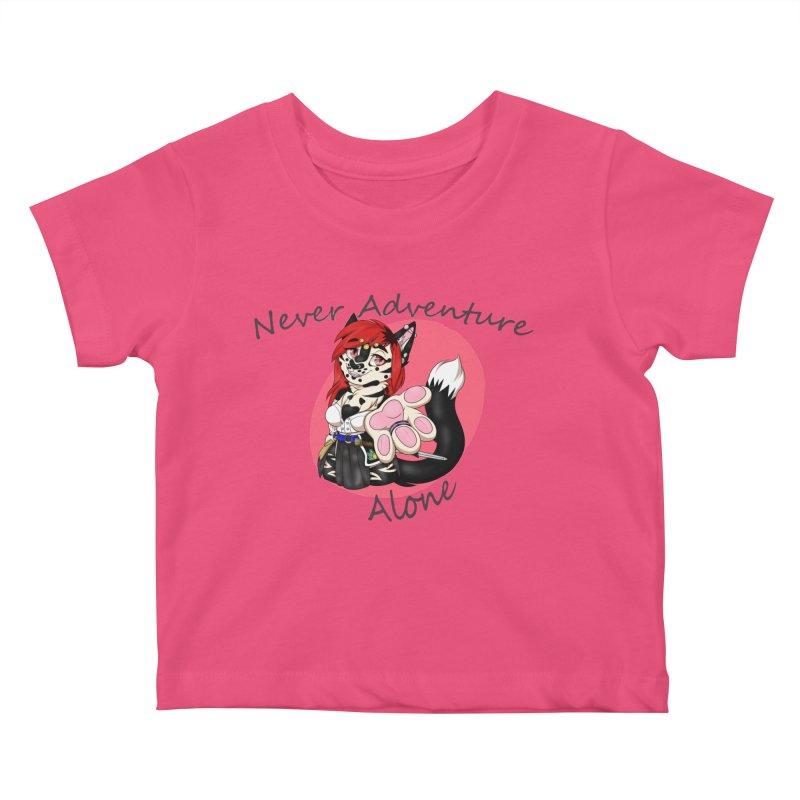 Never Adventure Alone Kids Baby T-Shirt by Bluefeatherkitten's Artist Shop