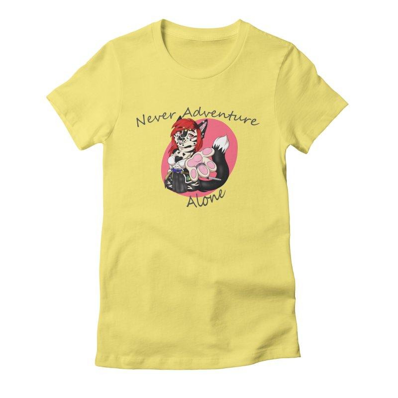 Never Adventure Alone Women's T-Shirt by Bluefeatherkitten's Artist Shop