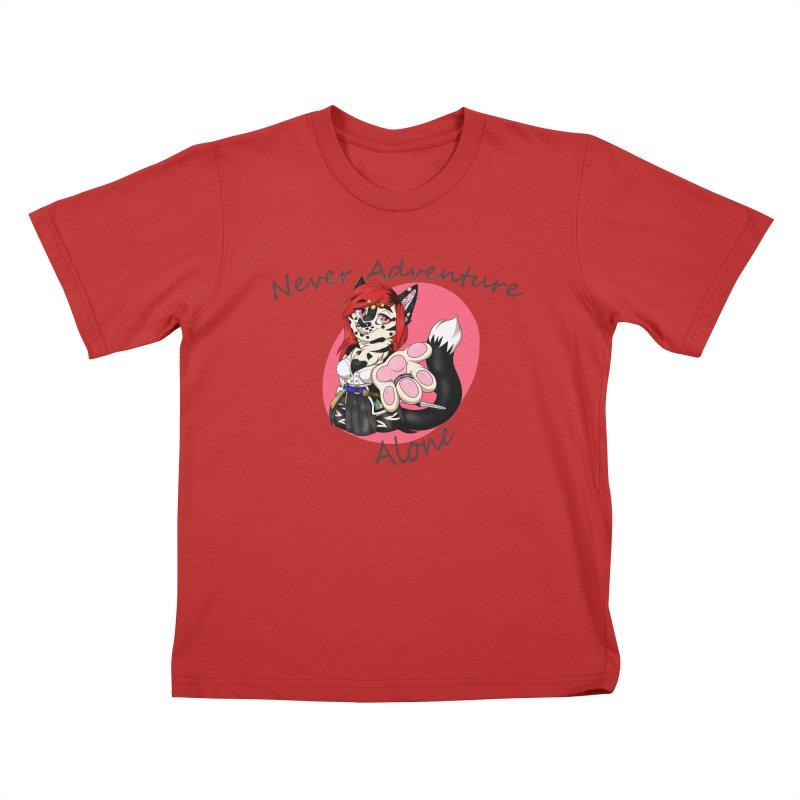 Never Adventure Alone Kids T-Shirt by Bluefeatherkitten's Artist Shop