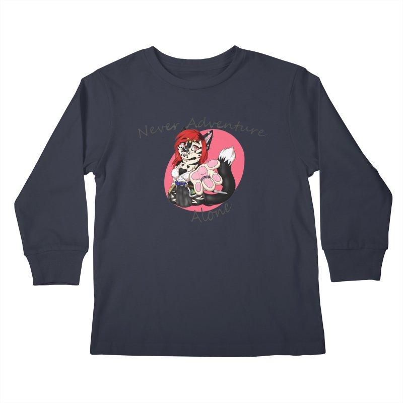 Never Adventure Alone Kids Longsleeve T-Shirt by Bluefeatherkitten's Artist Shop