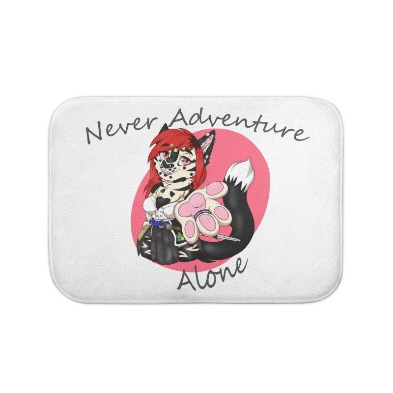 Never Adventure Alone Home Bath Mat by Bluefeatherkitten's Artist Shop