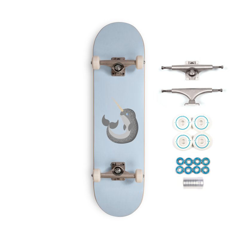 Narwhal Narwhal Accessories Skateboard by Bluefeatherkitten's Artist Shop