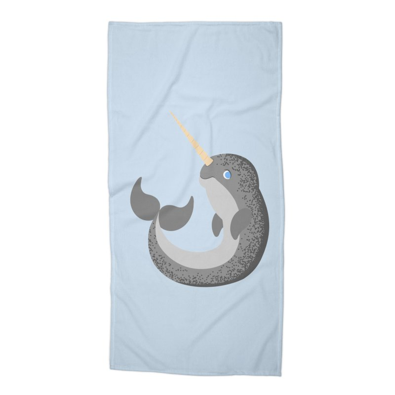 Narwhal Narwhal Accessories Beach Towel by Bluefeatherkitten's Artist Shop