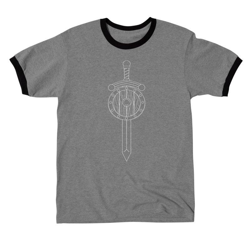 Sword and Board Men's T-Shirt by Bluefeatherkitten's Artist Shop