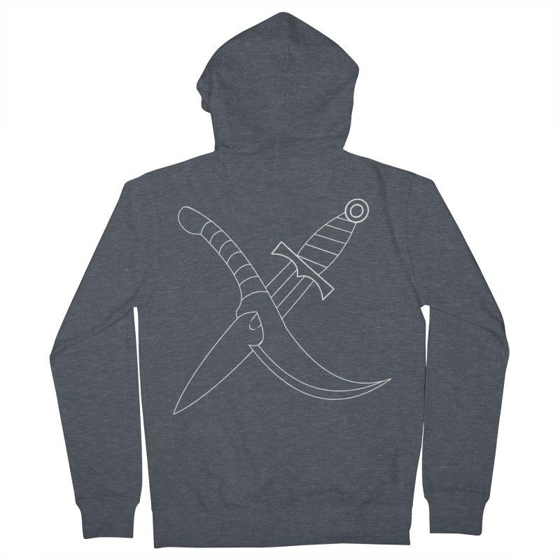Slice and Dice Men's Zip-Up Hoody by Bluefeatherkitten's Artist Shop