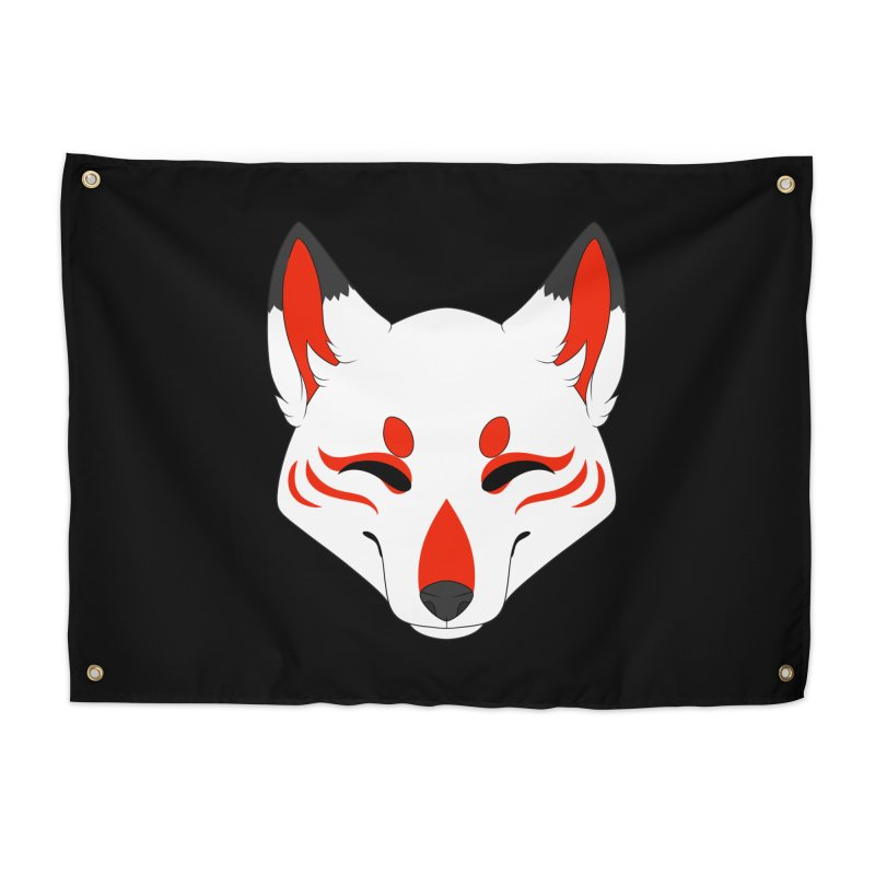 Kitsune (Red) Home Tapestry by Bluefeatherkitten's Artist Shop