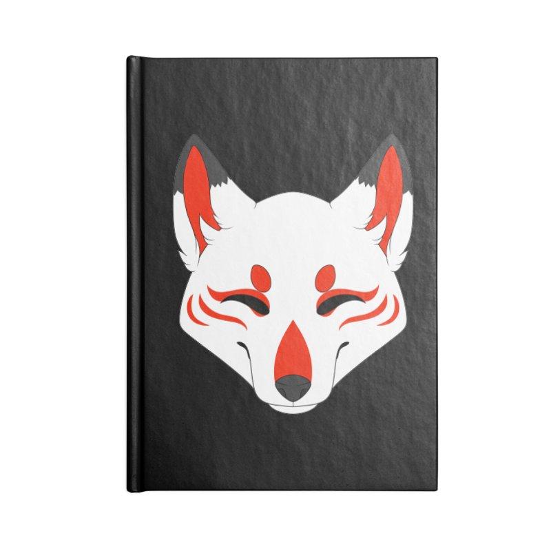 Kitsune (Red) Accessories Notebook by Bluefeatherkitten's Artist Shop