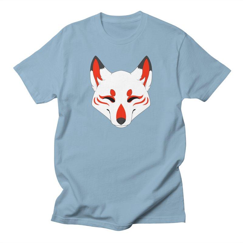 Kitsune (Red) Men's T-Shirt by Bluefeatherkitten's Artist Shop