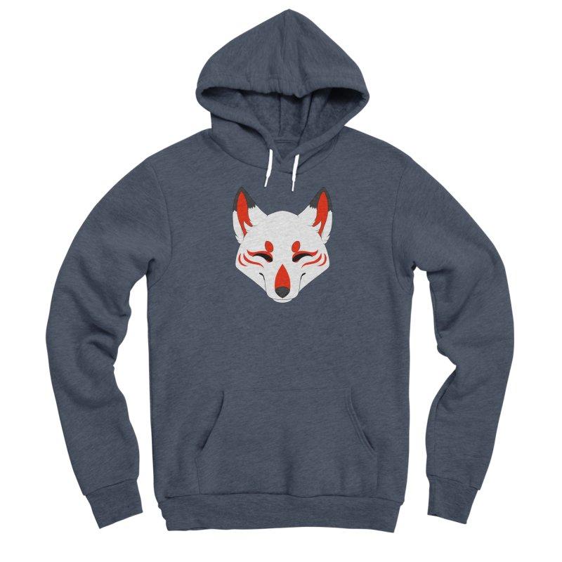 Kitsune (Red) Men's Pullover Hoody by Bluefeatherkitten's Artist Shop
