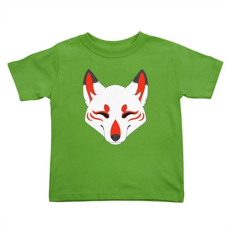 Kitsune (Red) Kids Toddler T-Shirt by Bluefeatherkitten's Artist Shop