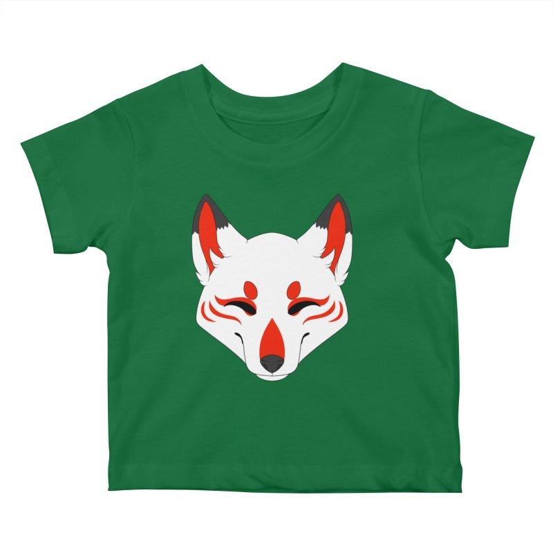 Kitsune (Red) Kids Baby T-Shirt by Bluefeatherkitten's Artist Shop