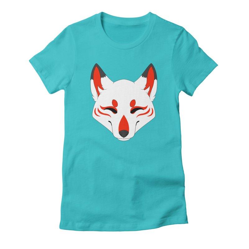 Kitsune (Red) Women's T-Shirt by Bluefeatherkitten's Artist Shop