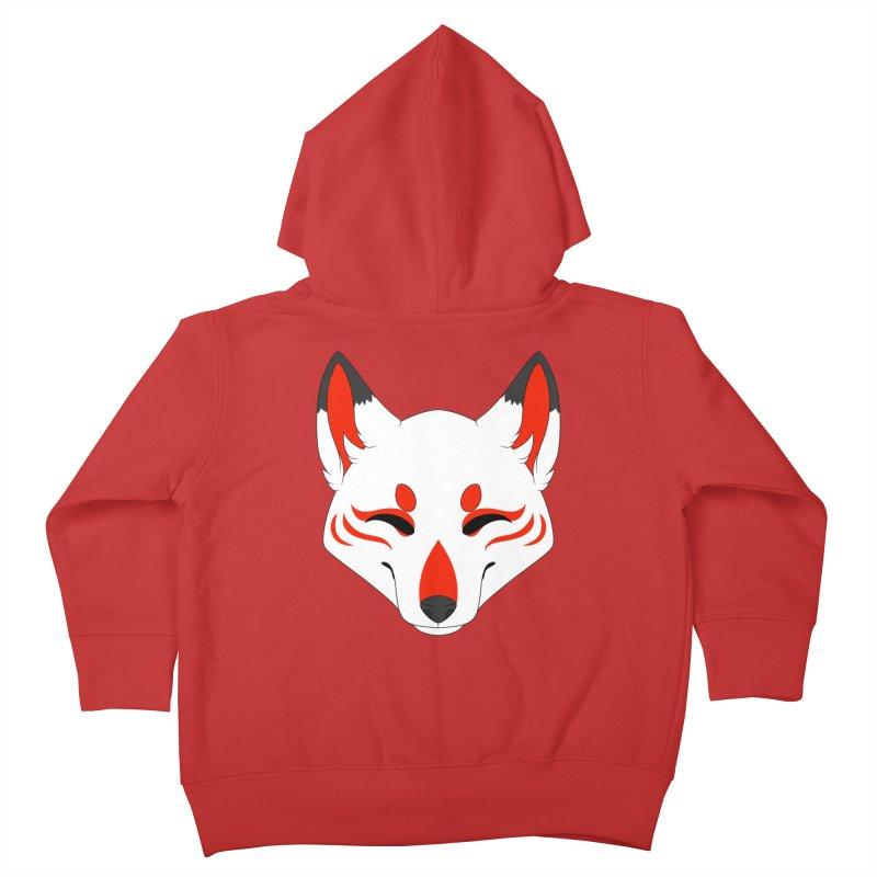 Kitsune (Red) Kids Toddler Zip-Up Hoody by Bluefeatherkitten's Artist Shop