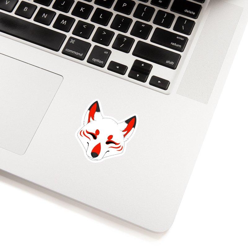 Kitsune (Red) Accessories Sticker by Bluefeatherkitten's Artist Shop