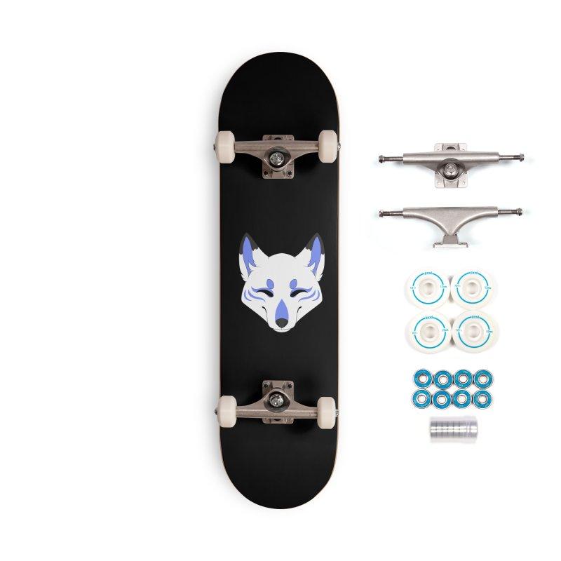 Kitsune (Blue) Accessories Skateboard by Bluefeatherkitten's Artist Shop