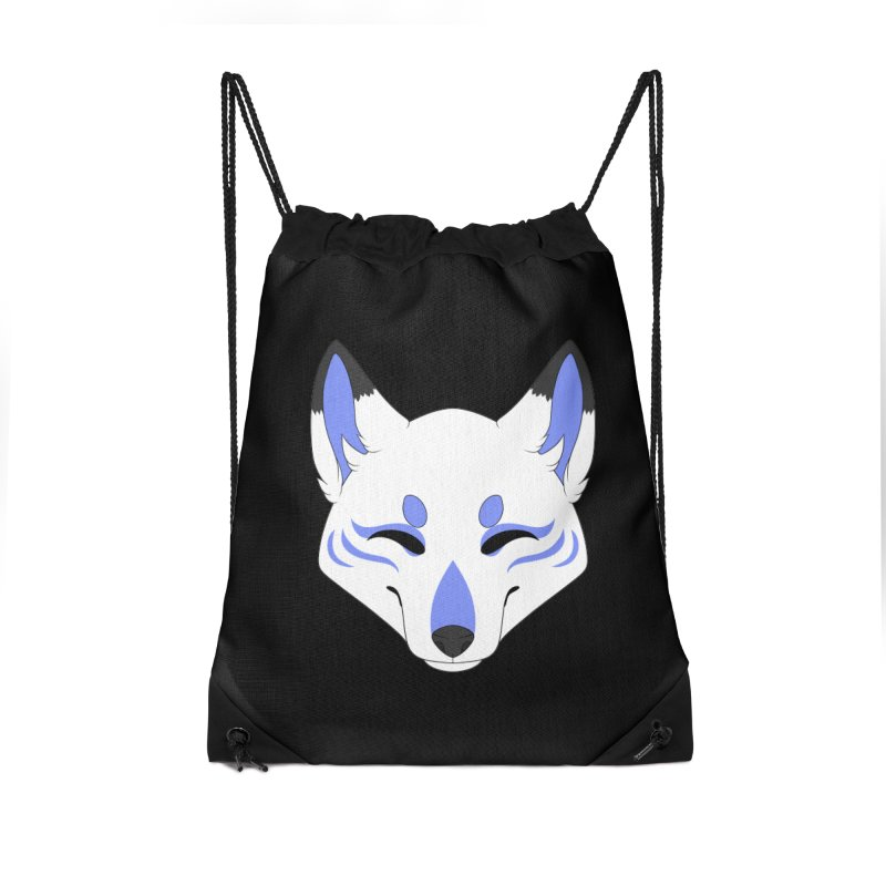 Kitsune (Blue) Accessories Bag by Bluefeatherkitten's Artist Shop