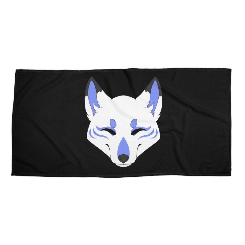 Kitsune (Blue) Accessories Beach Towel by Bluefeatherkitten's Artist Shop