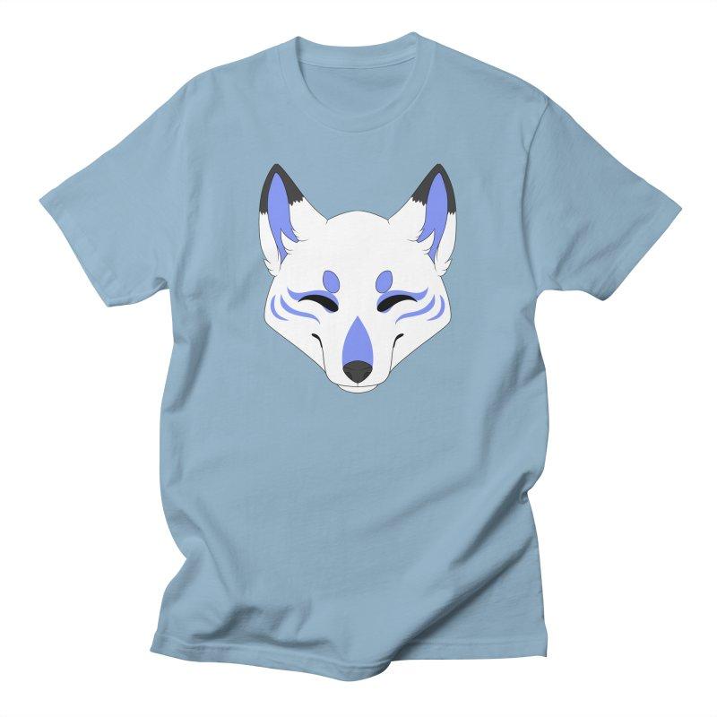 Kitsune (Blue) Men's T-Shirt by Bluefeatherkitten's Artist Shop