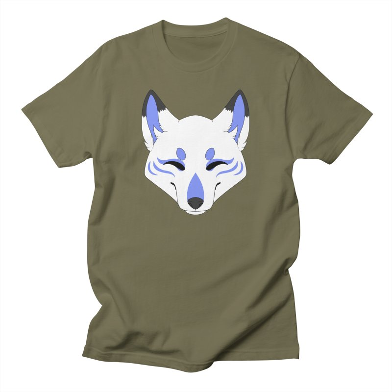 Kitsune (Blue) Women's T-Shirt by Bluefeatherkitten's Artist Shop