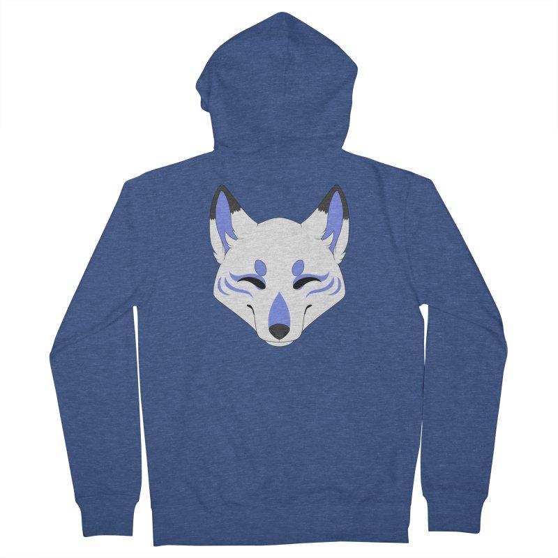Kitsune (Blue) Women's Zip-Up Hoody by Bluefeatherkitten's Artist Shop