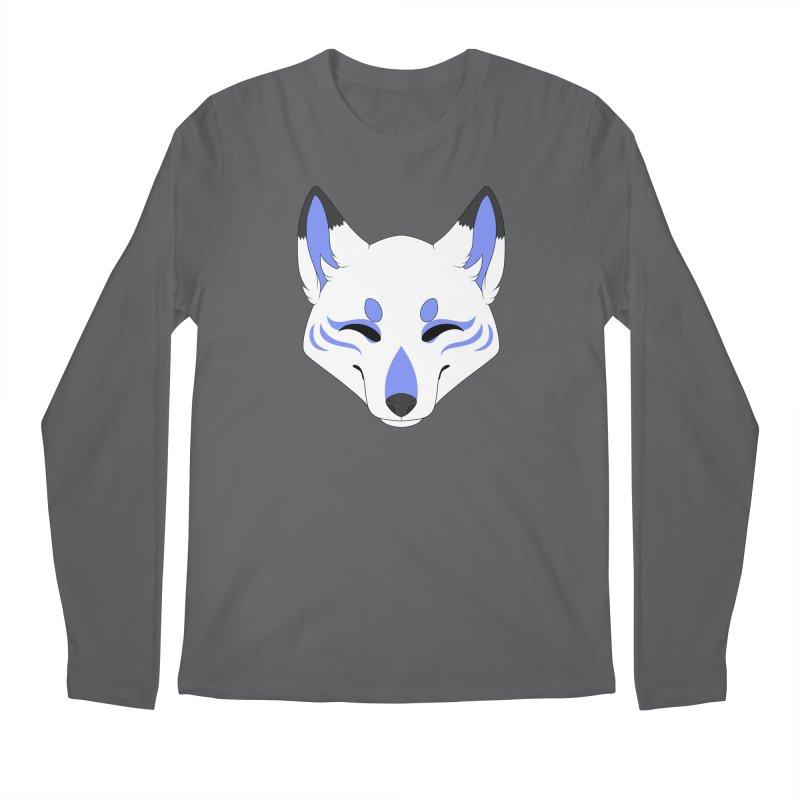 Kitsune (Blue) Men's Longsleeve T-Shirt by Bluefeatherkitten's Artist Shop