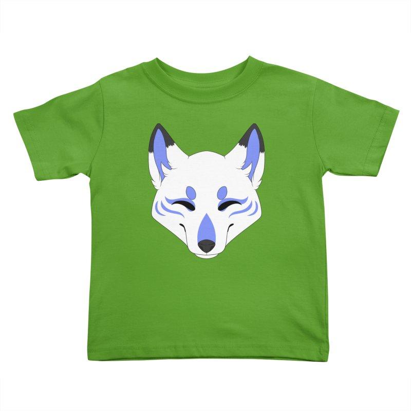 Kitsune (Blue) Kids Toddler T-Shirt by Bluefeatherkitten's Artist Shop