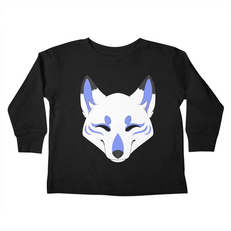 Kitsune (Blue) Kids Toddler Longsleeve T-Shirt by Bluefeatherkitten's Artist Shop