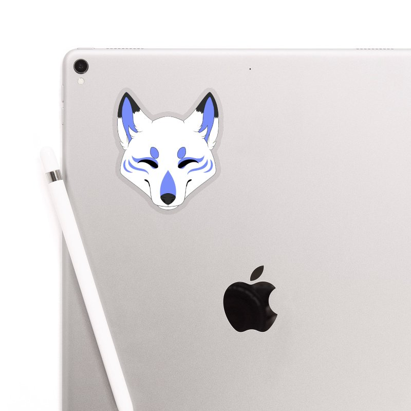 Kitsune (Blue) Accessories Sticker by Bluefeatherkitten's Artist Shop