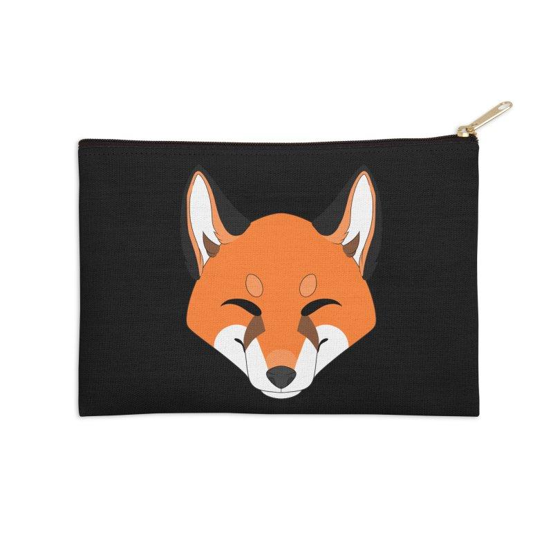 Small Fox Accessories Zip Pouch by Bluefeatherkitten's Artist Shop