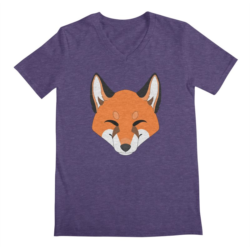 Small Fox Men's V-Neck by Bluefeatherkitten's Artist Shop