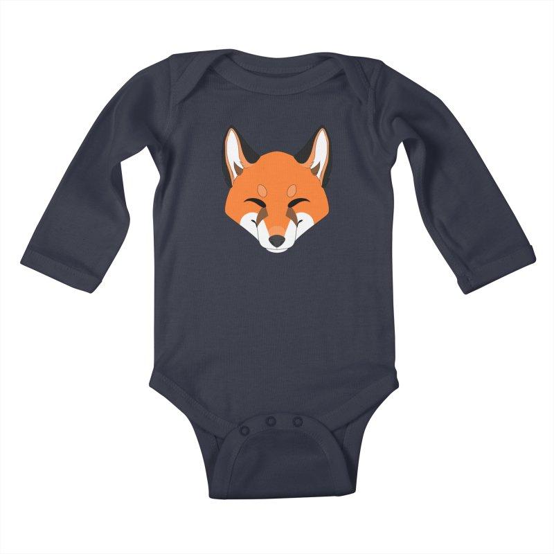 Small Fox Kids Baby Longsleeve Bodysuit by Bluefeatherkitten's Artist Shop