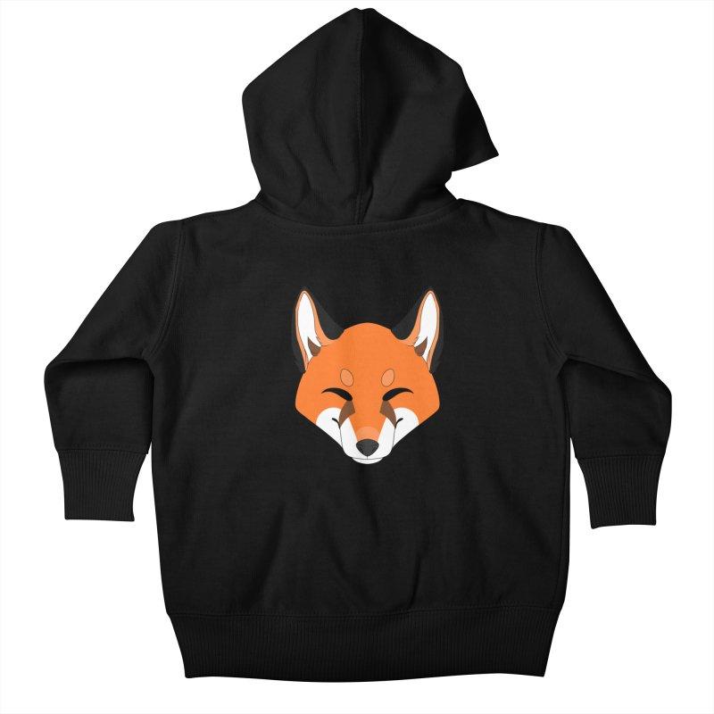 Small Fox Kids Baby Zip-Up Hoody by Bluefeatherkitten's Artist Shop