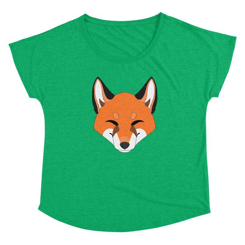 Small Fox Women's Scoop Neck by Bluefeatherkitten's Artist Shop