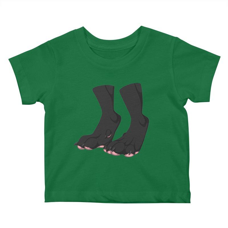 Them Paws Kids Baby T-Shirt by Bluefeatherkitten's Artist Shop