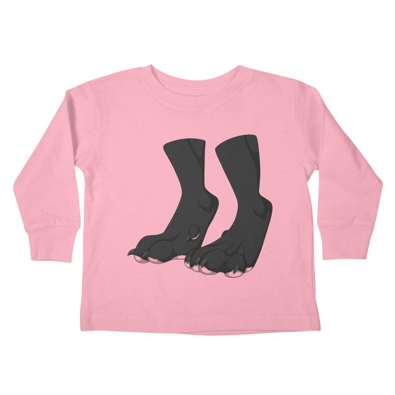 Them Paws Kids Toddler Longsleeve T-Shirt by Bluefeatherkitten's Artist Shop