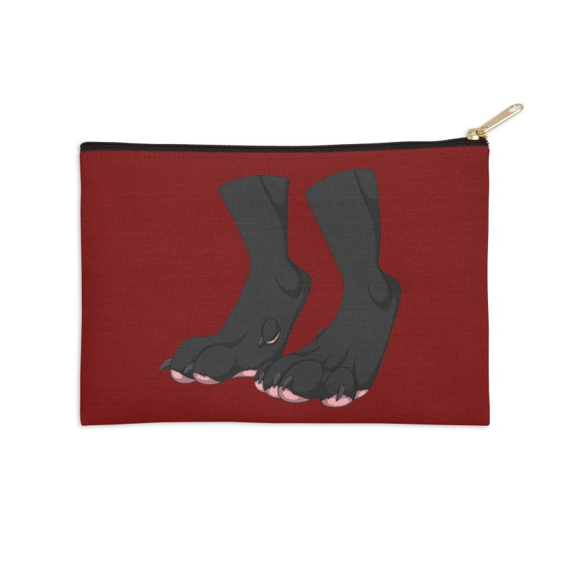 Them Paws Accessories Zip Pouch by Bluefeatherkitten's Artist Shop