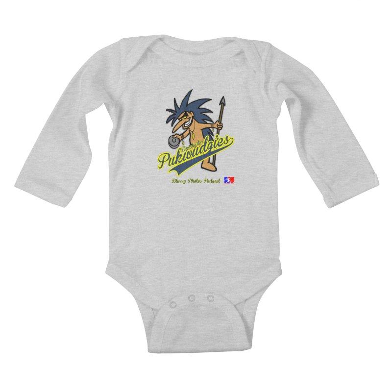 Dorchester Pukwudgies Kids Baby Longsleeve Bodysuit by Blurry Photos's Artist Shop