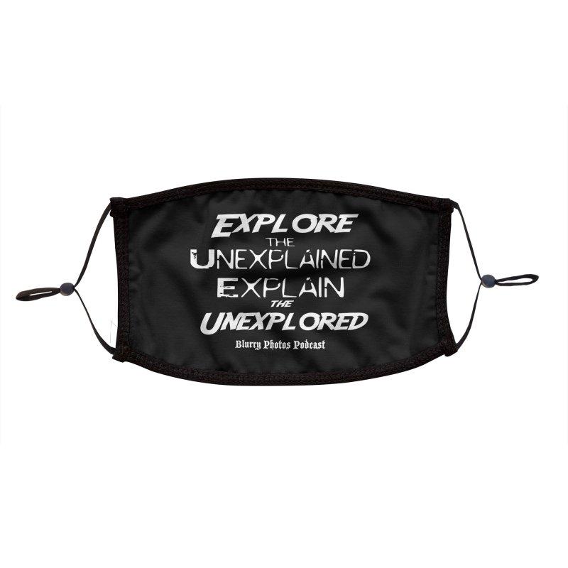 Explore/Explain Accessories Face Mask by Blurry Photos's Artist Shop