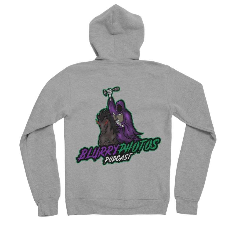 Horseman Logo Men's Sponge Fleece Zip-Up Hoody by Blurry Photos's Artist Shop