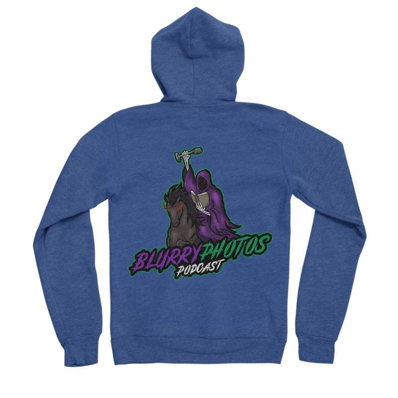 Horseman Logo Women's Sponge Fleece Zip-Up Hoody by Blurry Photos's Artist Shop