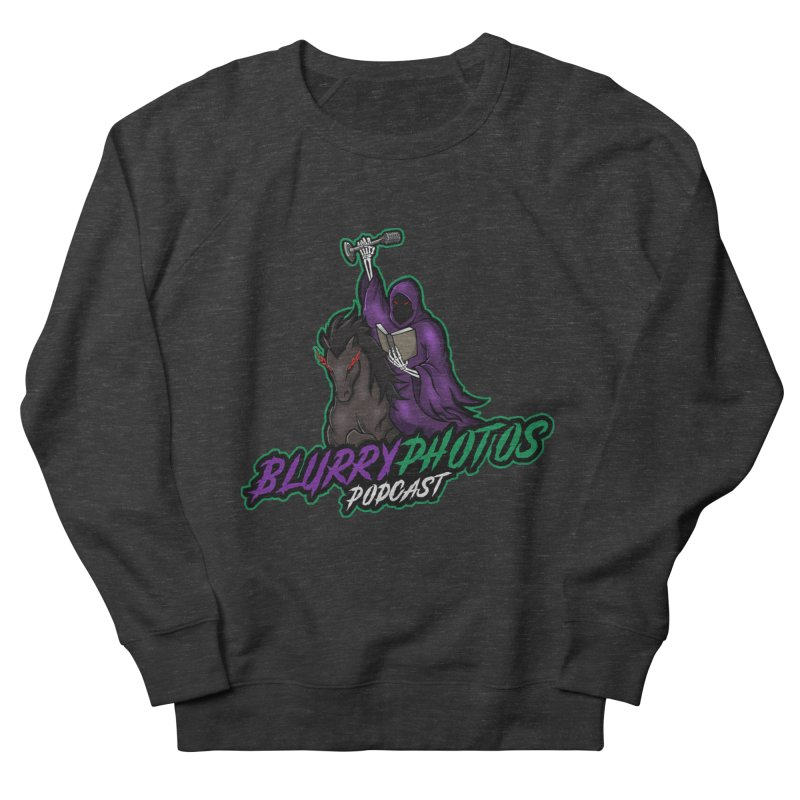 Horseman Logo Men's French Terry Sweatshirt by Blurry Photos's Artist Shop