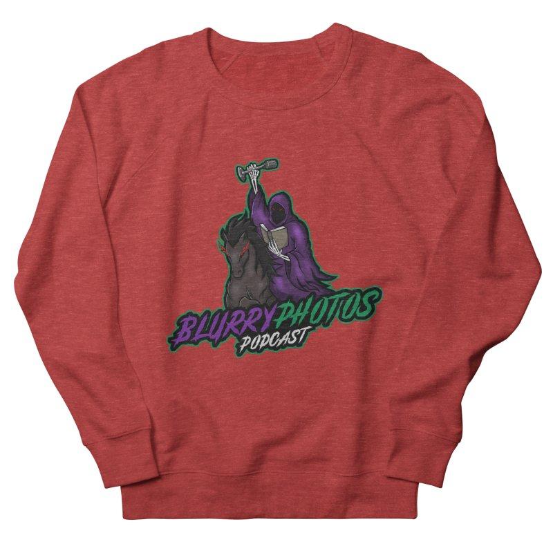 Horseman Logo Men's French Terry Sweatshirt by Blurry Photos's Artist Shop