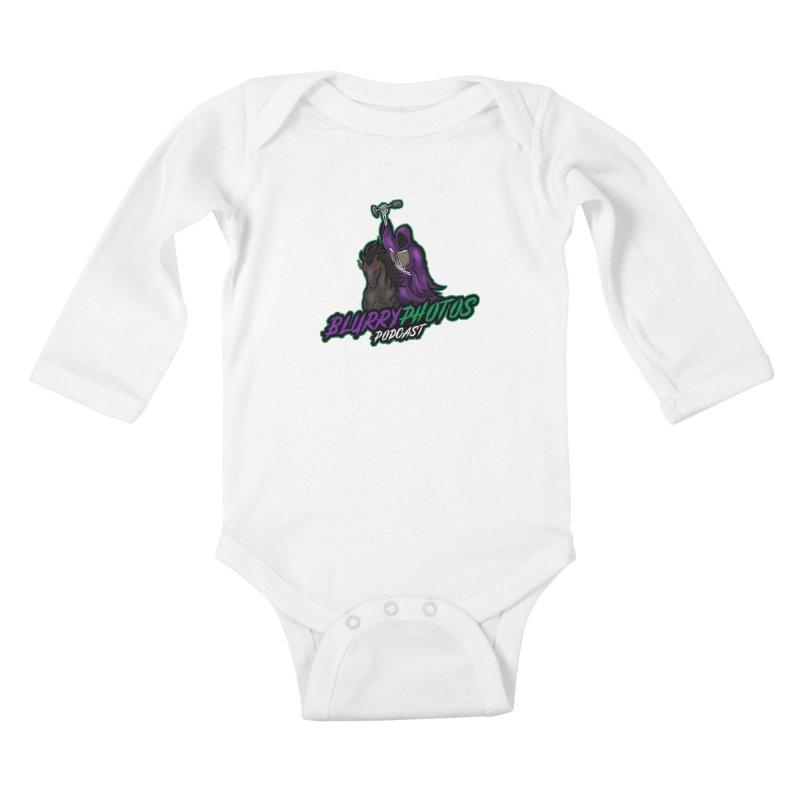 Horseman Logo Kids Baby Longsleeve Bodysuit by Blurry Photos's Artist Shop