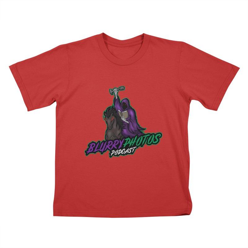 Horseman Logo Kids T-Shirt by Blurry Photos's Artist Shop